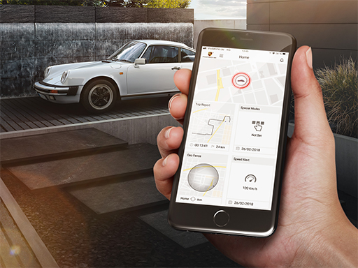 Porsche Classic Vehicle Tracking System.